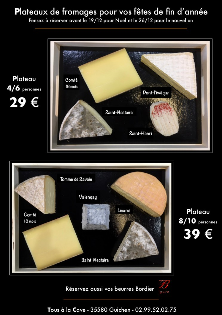 CARTE FROMAGES 2017