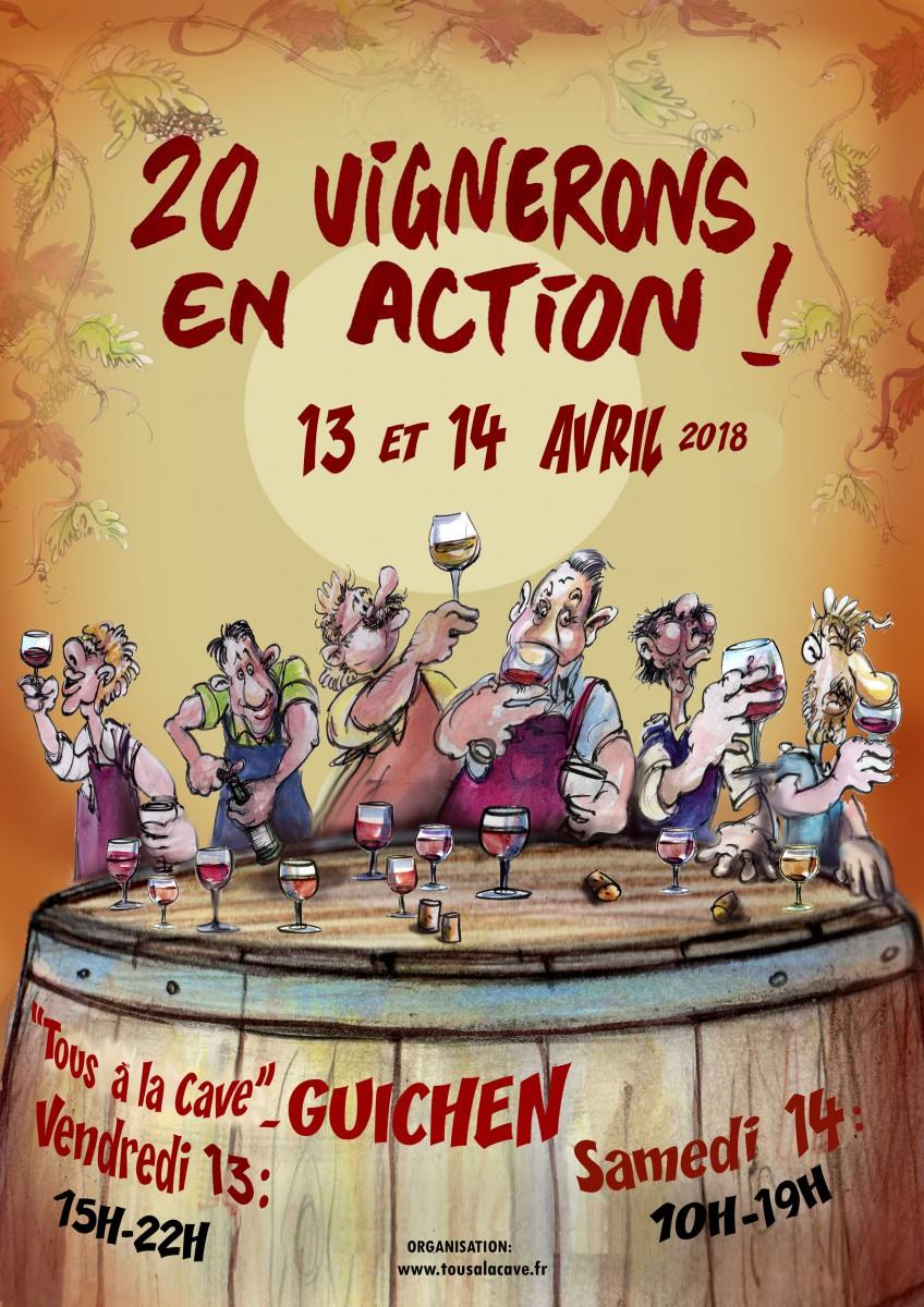 AFFICHE SALON DES VINS GUICHEN AVRIL 2018